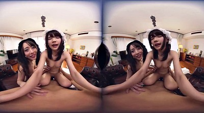 Japanese threesome, House, Japanese maid, Japanese house