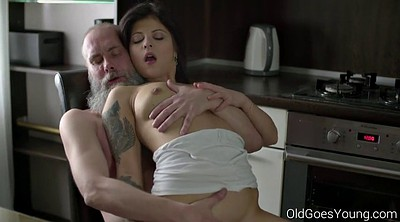 Old man, Old and young, Old goes young, Granny blowjob
