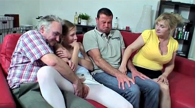 Mature group, Young and old foursome, Young and old, Mature hairy, Teen hairy, Hot granny