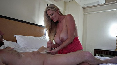 Moms, Breast, Mom handjob, Mom hd, Blonde mom