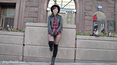 Pantyhose public, Jeny smith, Walking, Fire