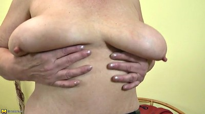 Saggy tits, Saggy granny, Mature pussy