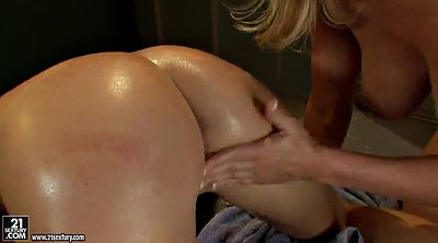 Tongue, Oil massage, Lesbian massage