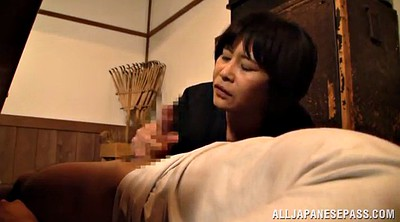 Asian mature, Hand job, Deliver