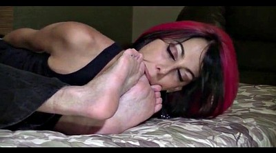 Lick feet, Red hair
