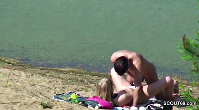 Beach, Beach voyeur, Beach fuck, Young couple, Young amateur couple