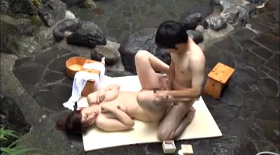 Asian creampie, Spa, Japanese fetish