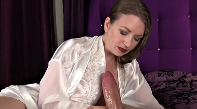 Satin, Mom handjob, Love mom