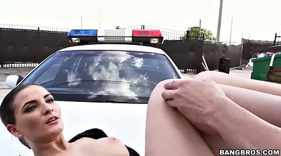 Police, Pussy licking, Outdoors, Molly jane, Molly, Masked