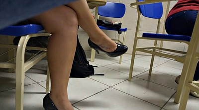 Brazilian, Candid, Shoeplay, Legs
