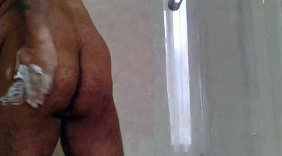 Shower, Bear gay, Hairy ebony