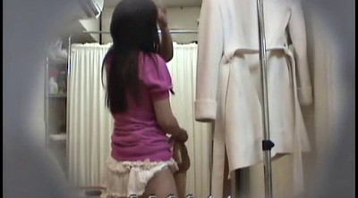 Changing, Japanese voyeur, Asian girl