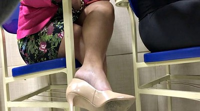 Candid, Shoeplay, Candid feet, High-heeled, High heels