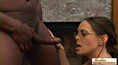 Glasses, Deepthroat big cock