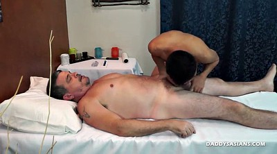 Dad, Couple, Asian massage, Masseuse, Young asian, Interracial massage