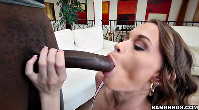 Interracial amateur, Ebony blowjob