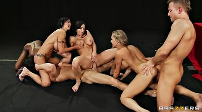 Face licking, Black group, Big tits group