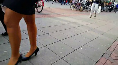 Skirt, Walk, Pantyhose leg