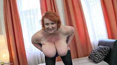 Grannies, Mature huge tits, Mature hairy