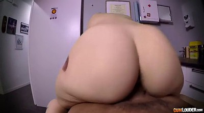 Short, Short hair, Chubby hairy, Cowgirl pov, Chubby blonde