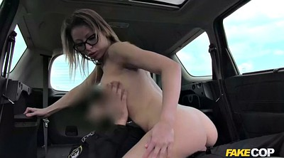 Public creampie, Fake, Car