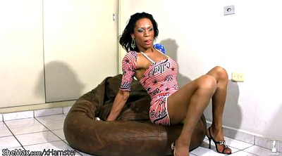 Masturbation finger, Ebony shemale