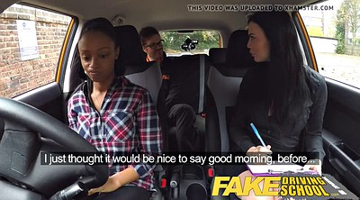 School, School girl, Fake, Fake tits, Lesbian orgasm, Fake driving school