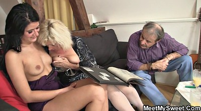 Old and young, Mature milf, Teach, Threesome granny, Mom teaches, Mom riding