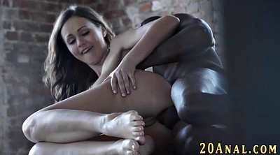Interracial anal, Big black ass