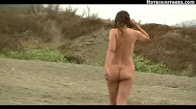 Beach, Spy, Nude teen