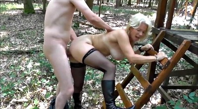 Stocking mature, Forest, Blonde stockings