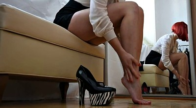 Stockings, High heels, High-heeled