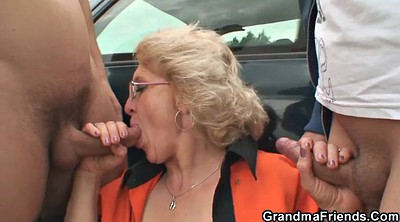 Grandmother, Street, Boys, Teen boy, Milf and young boy, Granny boy