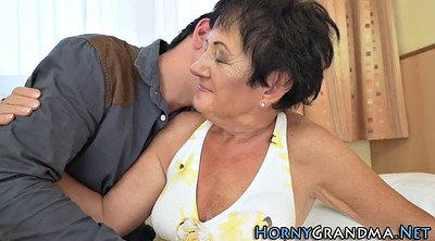Mature facial, Granny hd