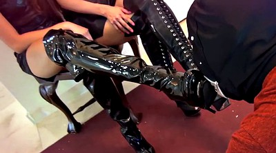 Latex boots, Boot