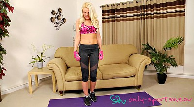 Yoga, Sexy, Solo big tits, Blond