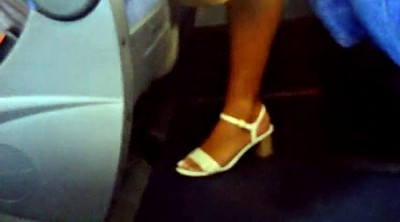 Bus, Brazilian, Voyeur bus, On bus, Brazilian feet