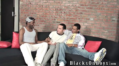Interracial group, Black blowjob