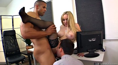 Hairy, Office boss, Interracial missionary, Cum on face