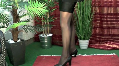Crossdresser, Crossdress, Gay pantyhose, Heel solo