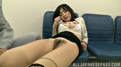 Pantyhose pussy, Standing, Asian pantyhose, Public pussy, Public nudity, Office pantyhose