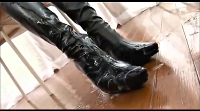 Foot, Japanese foot, Asian foot, Bukkake, Impregnation, Japanese boots