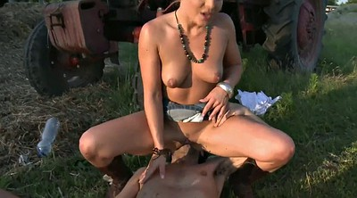 Farm, Dick girl, Latex anal, Field, In anal, Face sittings
