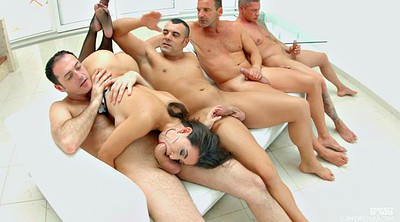 Group, Blowbang, Mexicans, Latina milf
