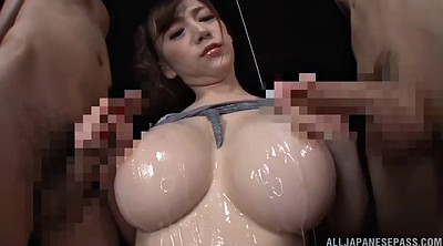 Asian, Oil, Japanese threesome, Busty japanese, Japanese suck, Japanese oil