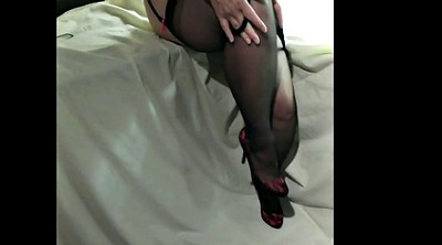Stockings, Clit, Stockings feet, Clit big