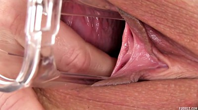 Gyno, Gaping pussy, Speculum, Pussy close up, Inside