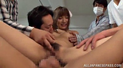 Nurse, Japanese handjob, Japanese nurse, Japanese gangbang, Asian gangbang, Hairy lick