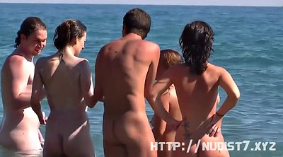 Nudist, Beach nudist, Thigh, Spread
