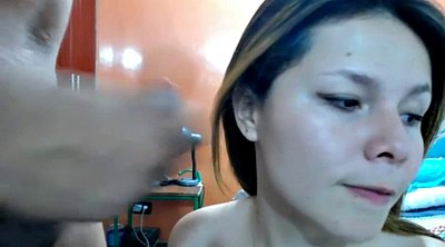 Handjob facial, Doll, Webcam facial